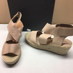 Eileen Fisher Pink Wedge Sandals 10M